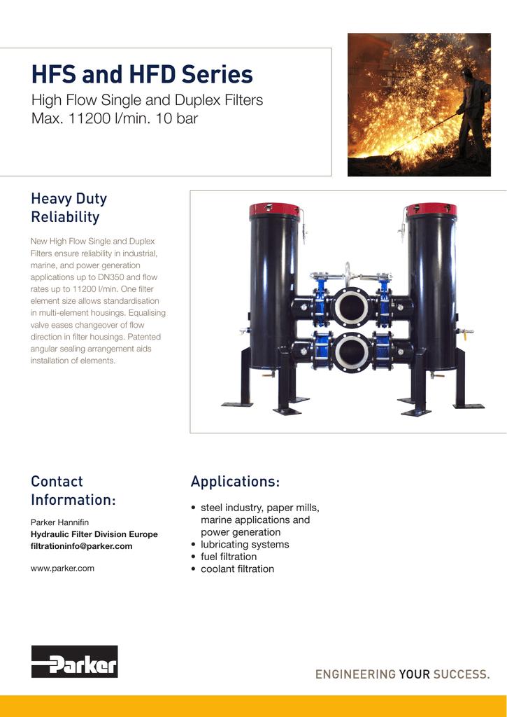 HFS-HFD Series high-flow filter brochure | manualzz com