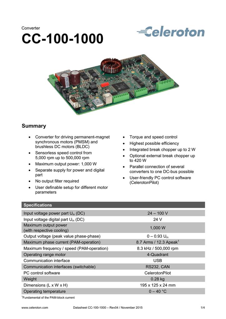 100 Rpm Dc Motor Datasheet