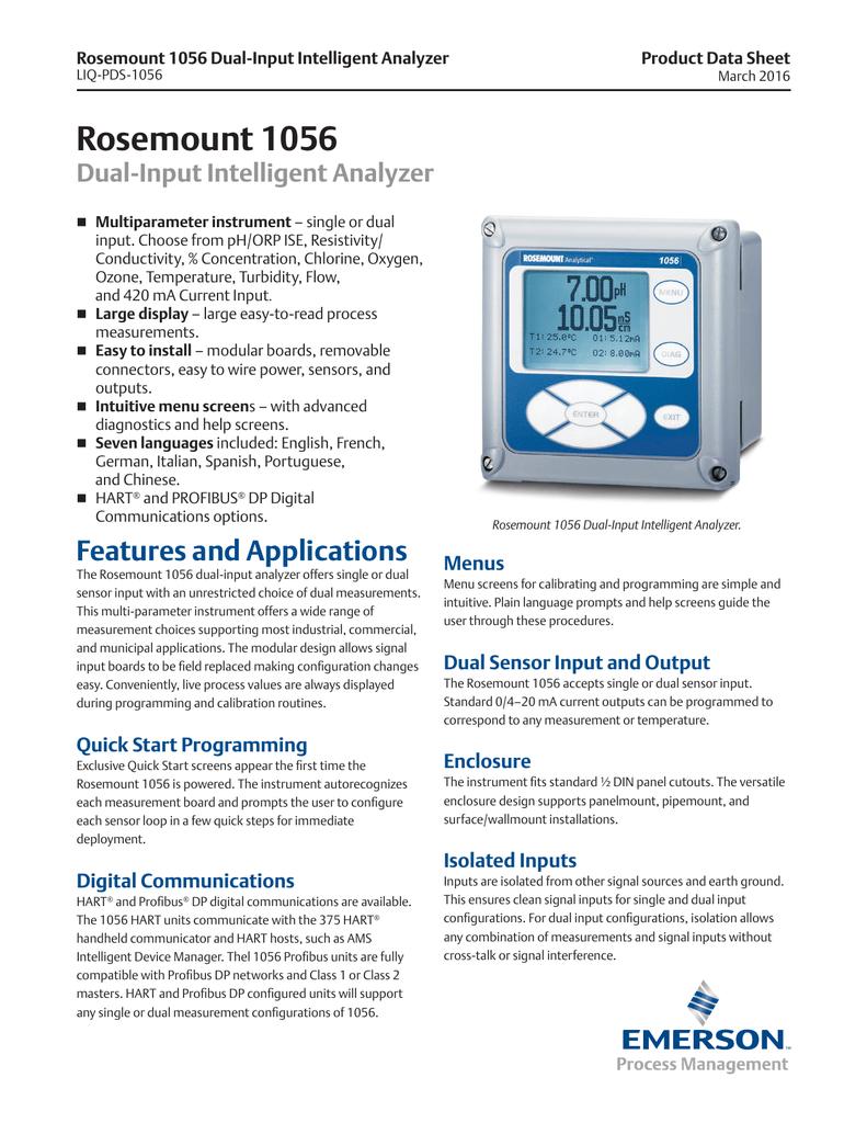 Rosemount 1056-02-22-38-AN Transmitter for One pH//ORP Measurement