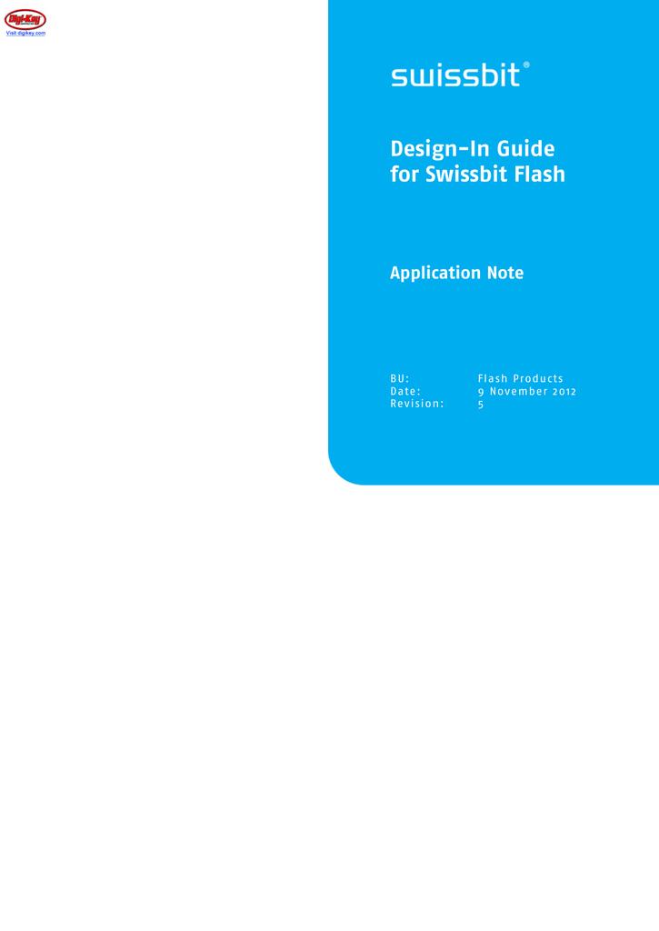 Design-In Guide for Swissbit Flash Devices | manualzz com