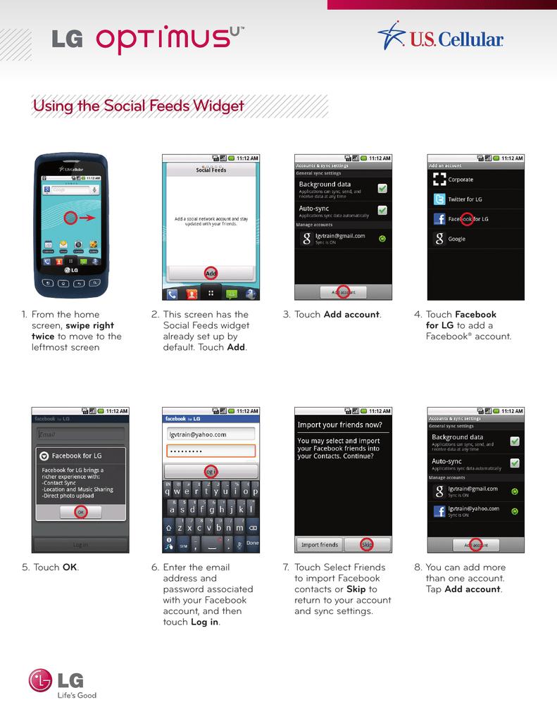 Social Networking Widget   manualzz com