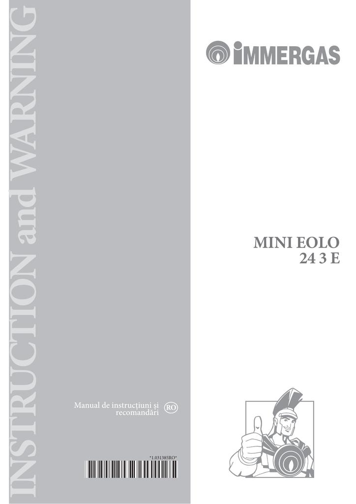 Manual Centrala Termica Immergas Eolo Mini Manualzz Com