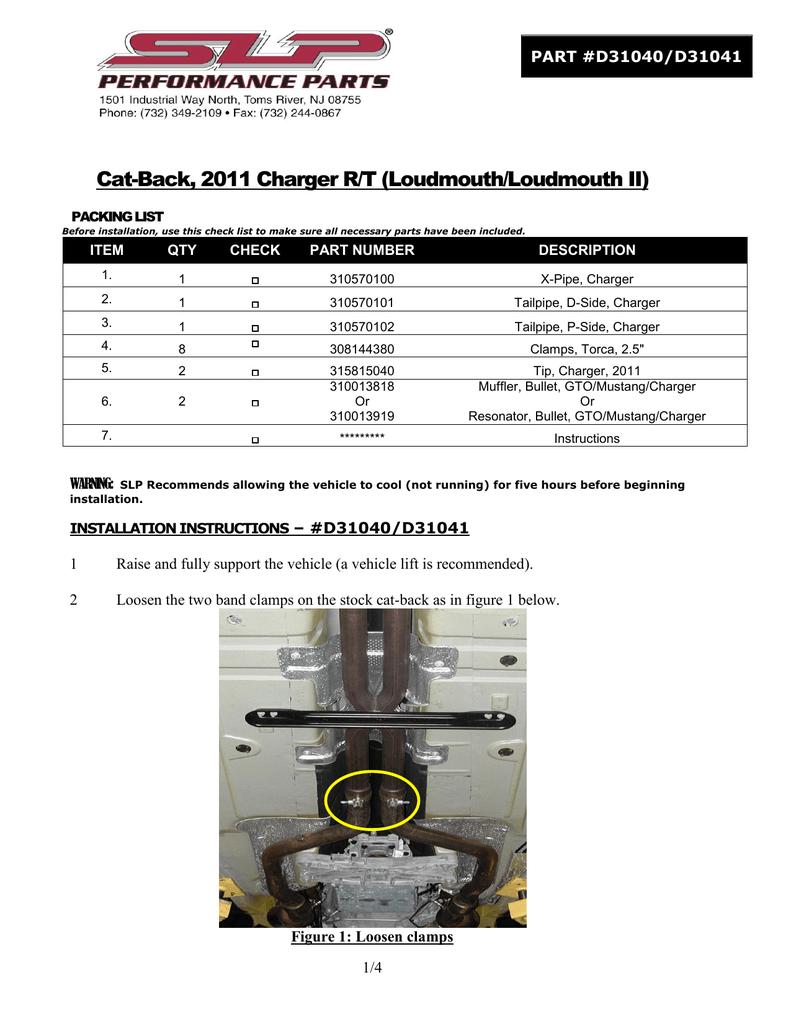 "SLP Performance 310013818 Loud Mouth II Bullet Muffler 2.5/"" Inlet//Outlet"