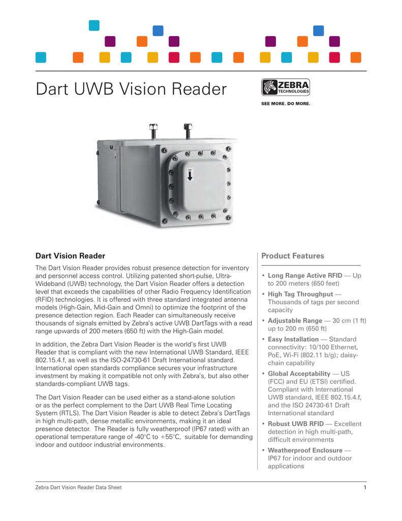 Dart UWB Vision Reader Dart Vision Reader Product Features