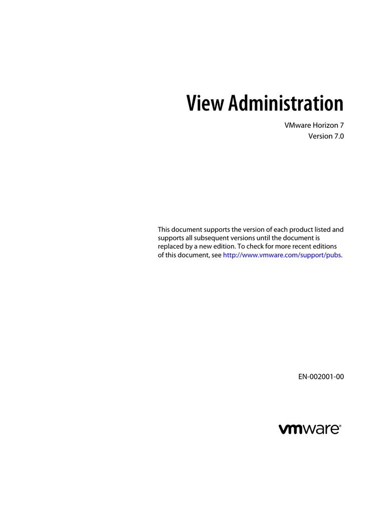 View Administration VMware Horizon 7 Version 7 0 | manualzz com