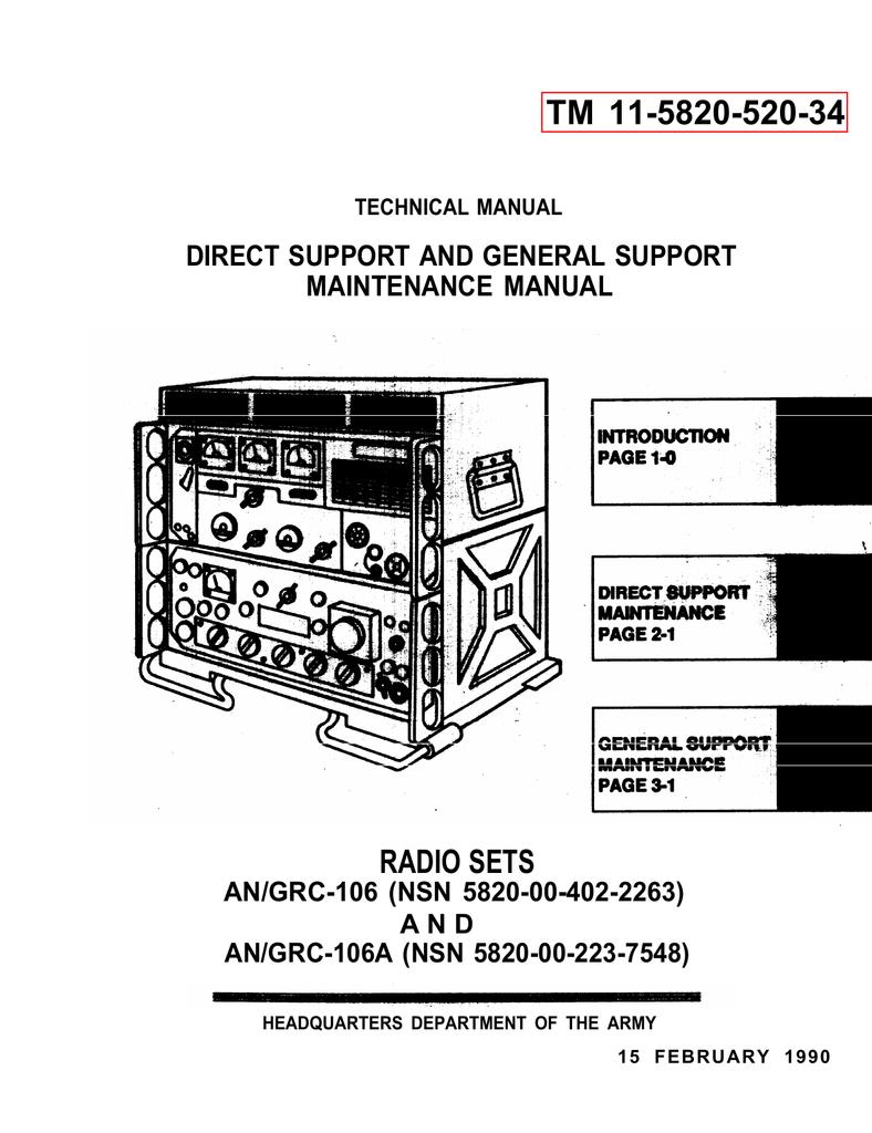 An Grc 106a Serv Tm11 5820 520 Hd 4560 Wiring Harness Conversion
