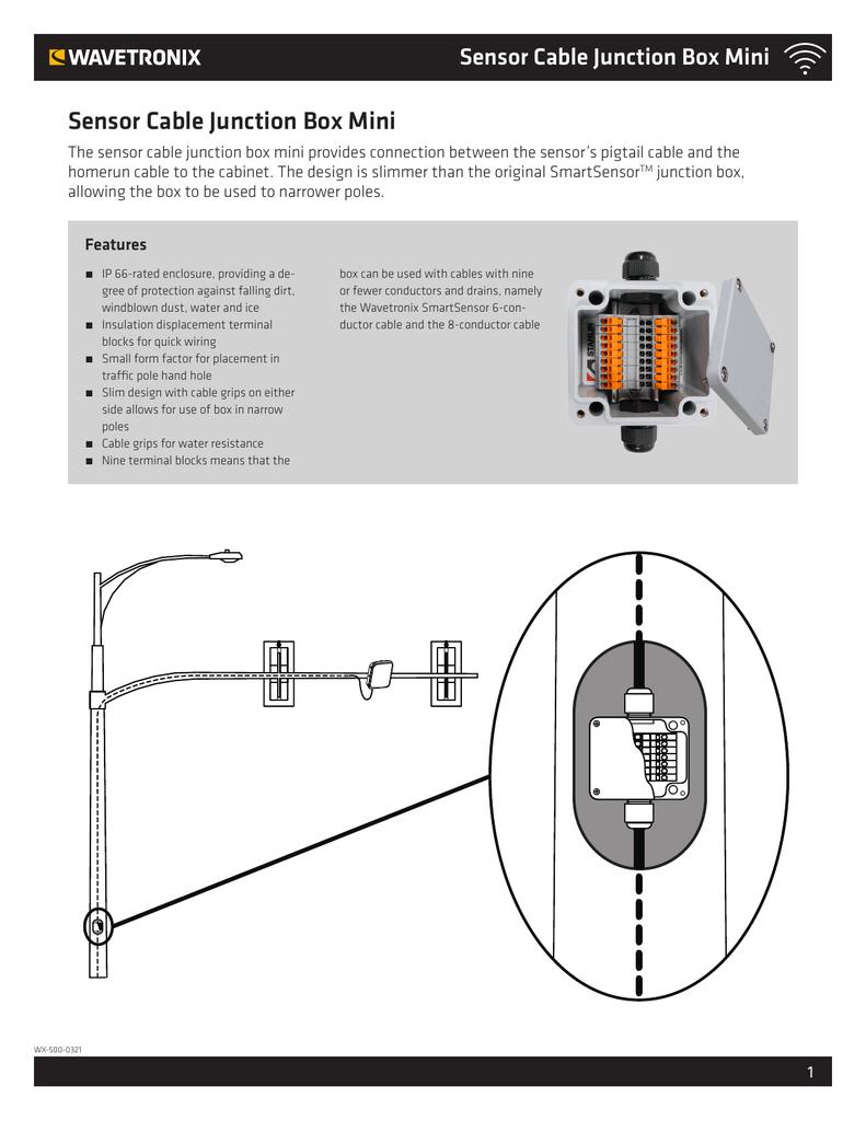Sensor Cable Junction Box Mini Wiring A 6 Terminal
