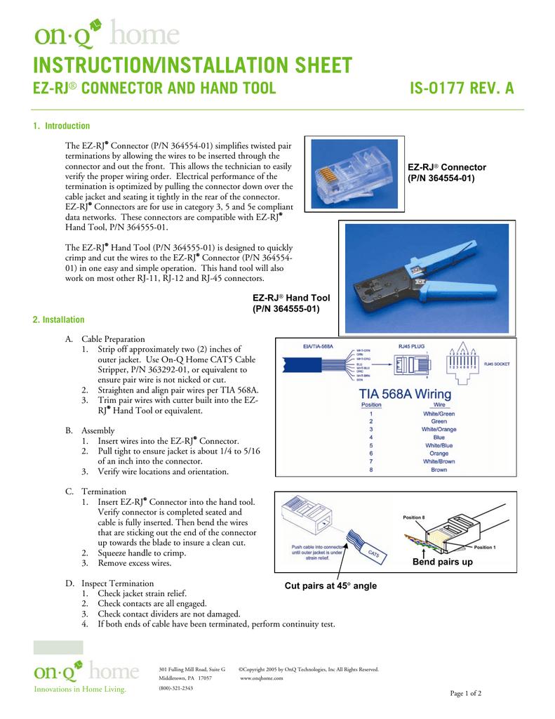Legrand Cat5e Rj45 Insert Wiring Diagram
