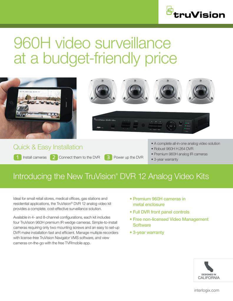 TruVision DVR 12 and 960H Camera Kits Sales Flyer | manualzz com
