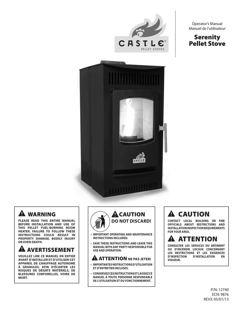 Difference Poele A Granule Et Pellet caution serenity pellet stove | manualzz