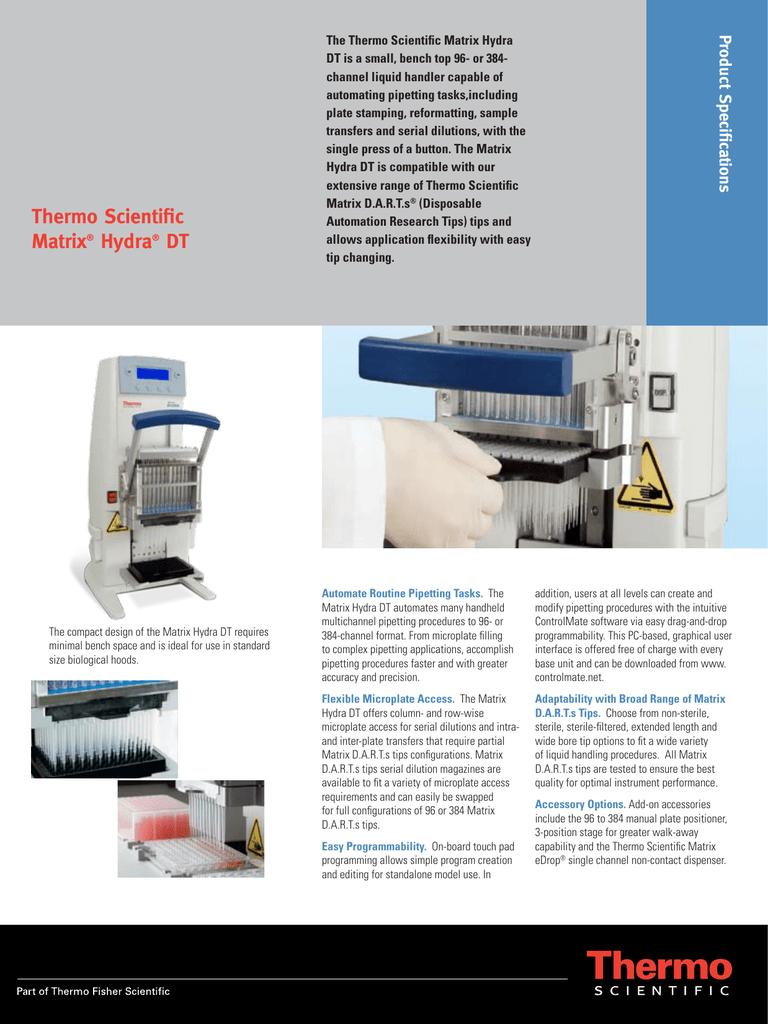 thermo scientific matrix hydra dt