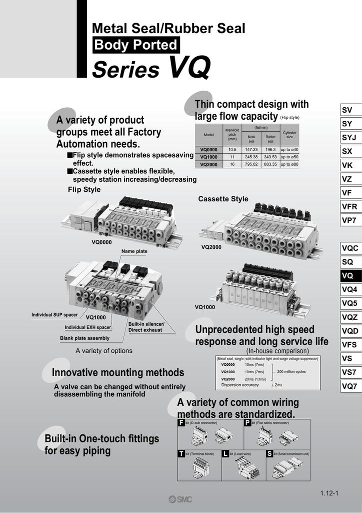 Solenoid Valve; 5 port; 2 posit double; base mt; 24VDC; L plug w//.3m leadwire