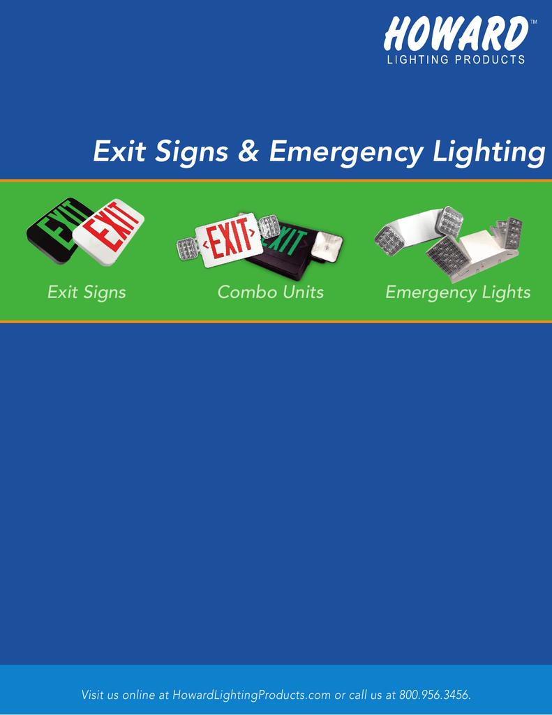 Exit Signs Emergency Lighting Combo Units Bal3000 Em Ballast Wiring Diagram Lights
