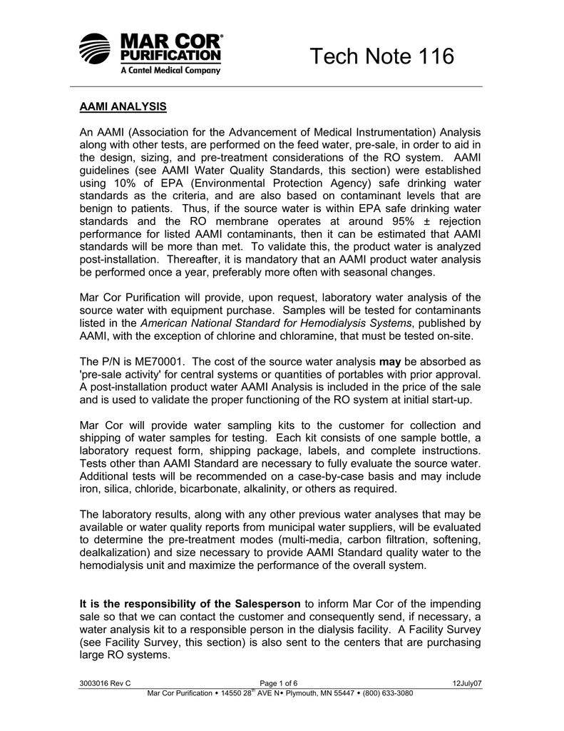 Tn116 Aami Analysis Manualzz Com