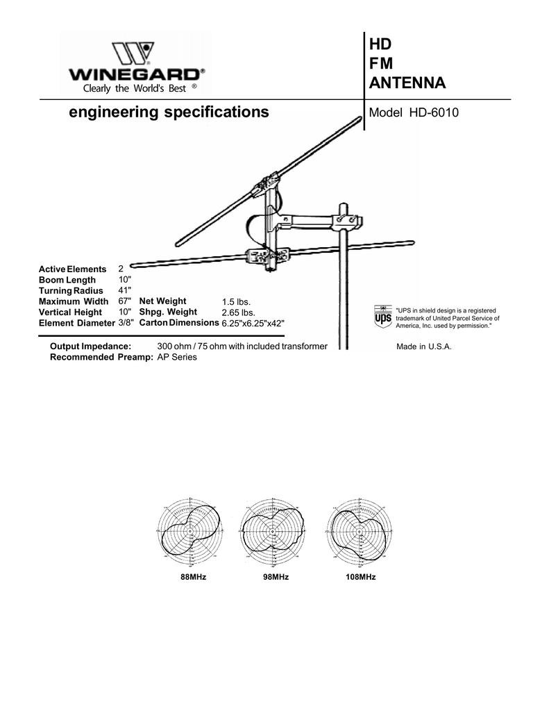HD FM ANTENNA engineering specifications | manualzz com