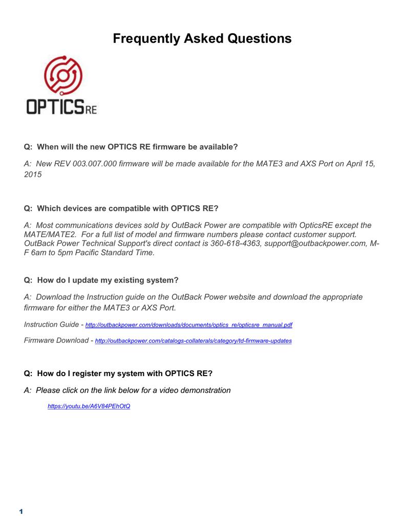 OpticsRE General Info   manualzz com