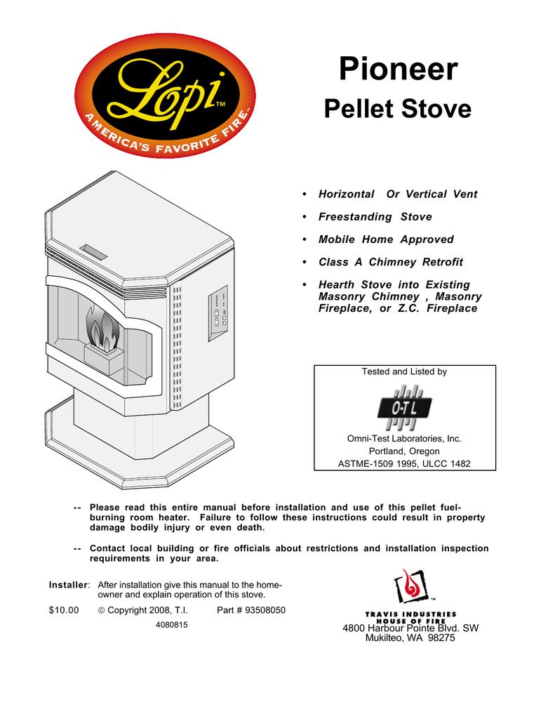 Pioneer Pellet Manualzz Com