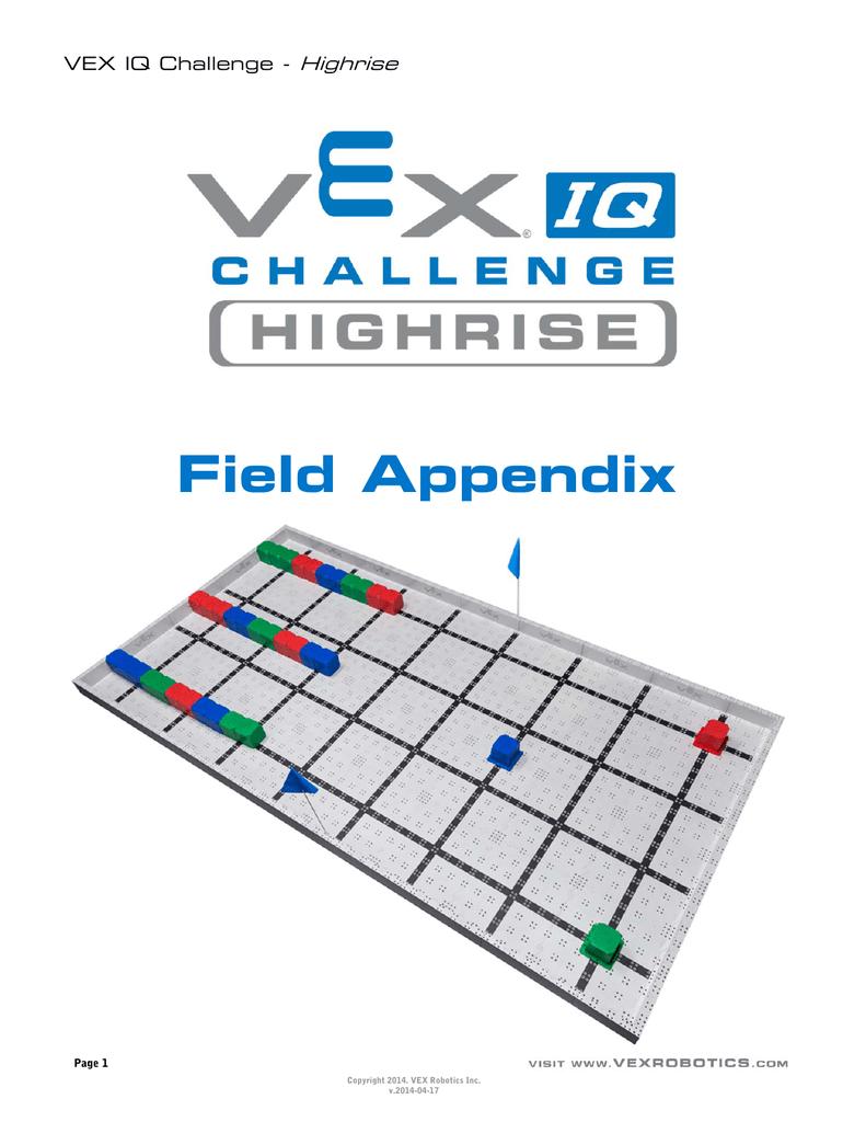 Vex Iq Challenge Highrise Field Layout Appendix Manualzz Com