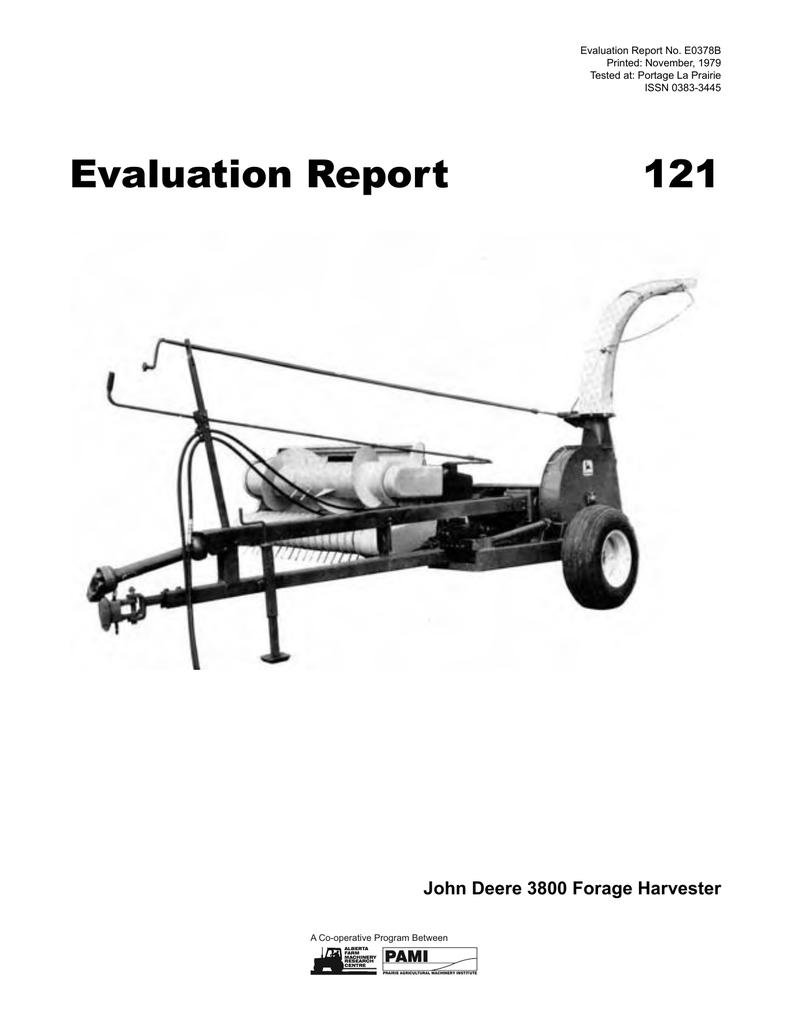121 John Deere 3800 Forage Harvester 1979 Black And Decker Electric Lawn Mower Mm850 Wiring Diagram