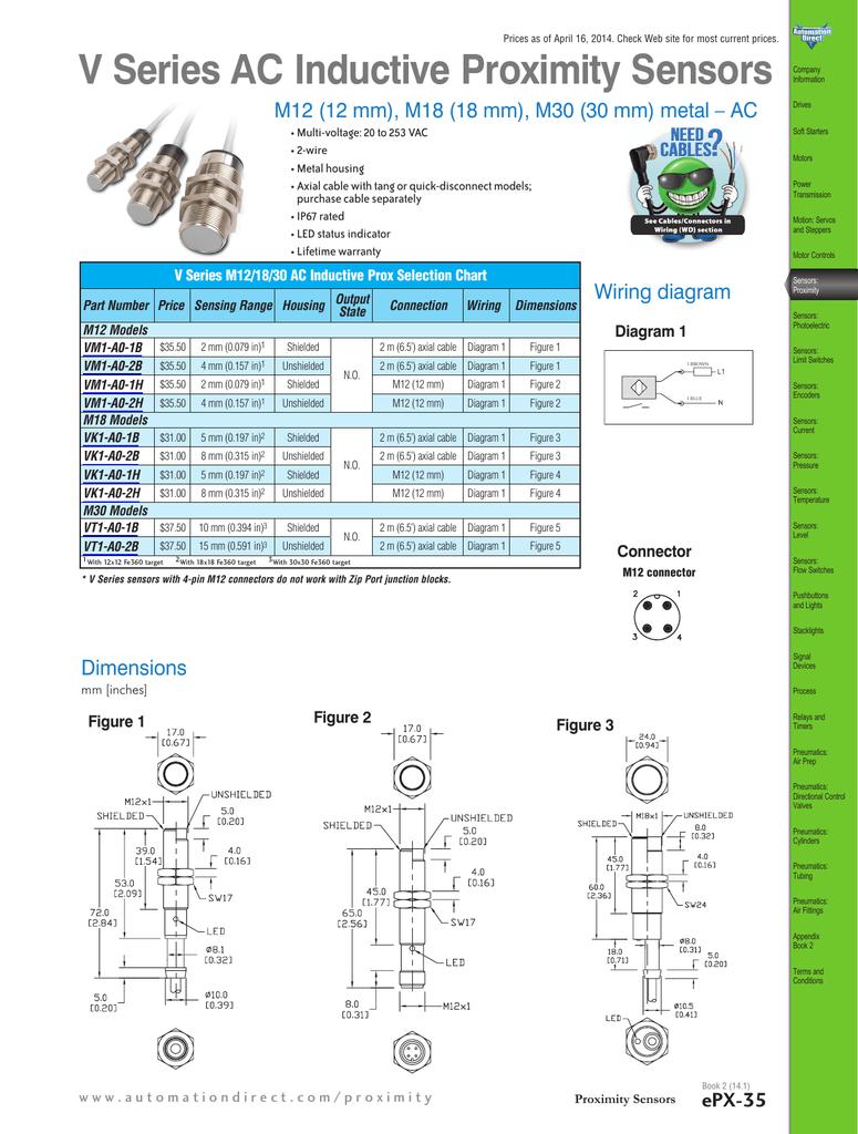 12/18/30mm Proximity Sensor Standard Sensing Technical Specs | manualzz.com