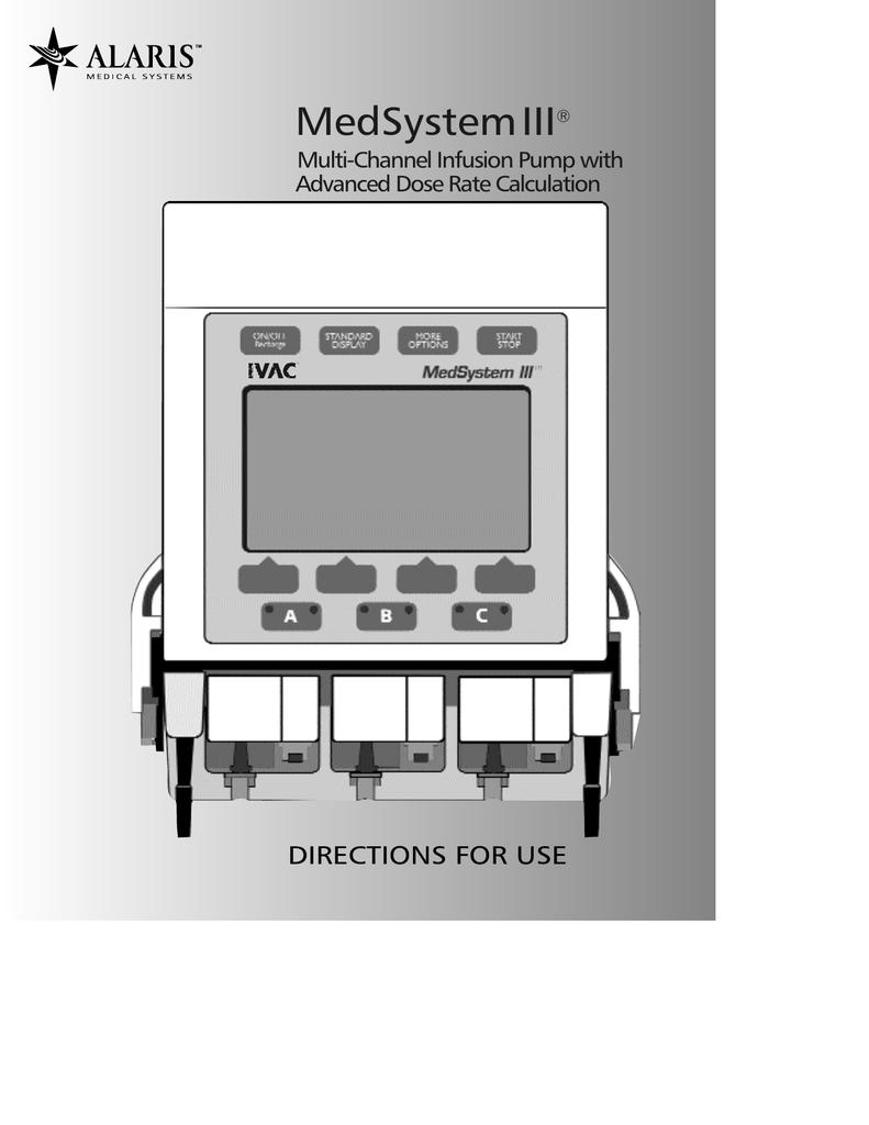 Alaris Medsystem Iii 2860 2863 User Manual Manual Guide