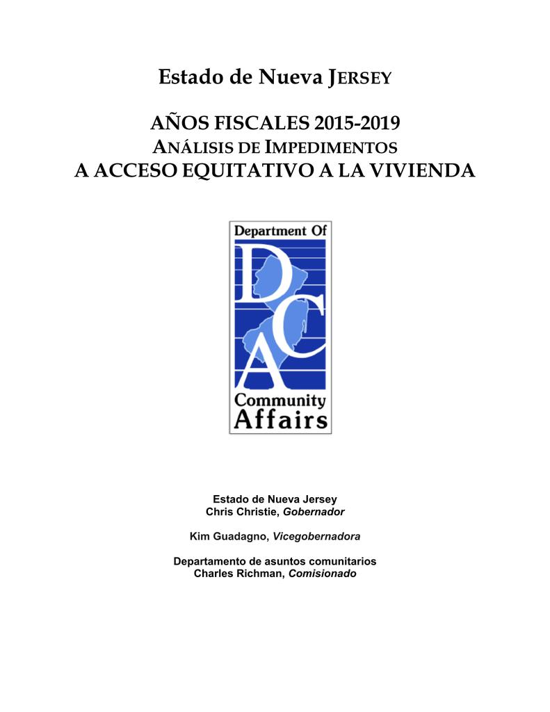 Análisis Preliminar 2015-2019 sobre Impedimentos para Elección de Vivienda  Justa de New Jersey  9dfb13e86c1c1