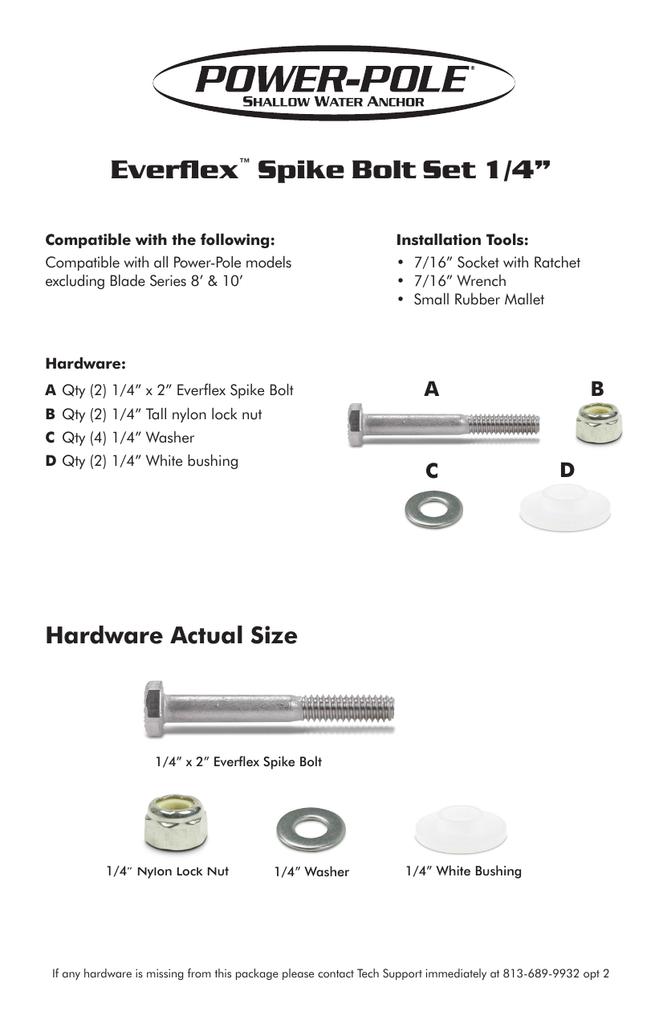 Bolt Set Spike Installation Instructions | manualzz com