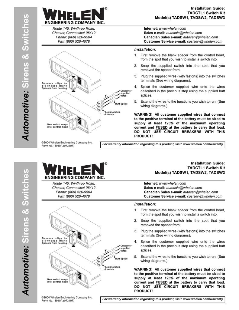 TADSW1 Install | Manualzzmanualzz