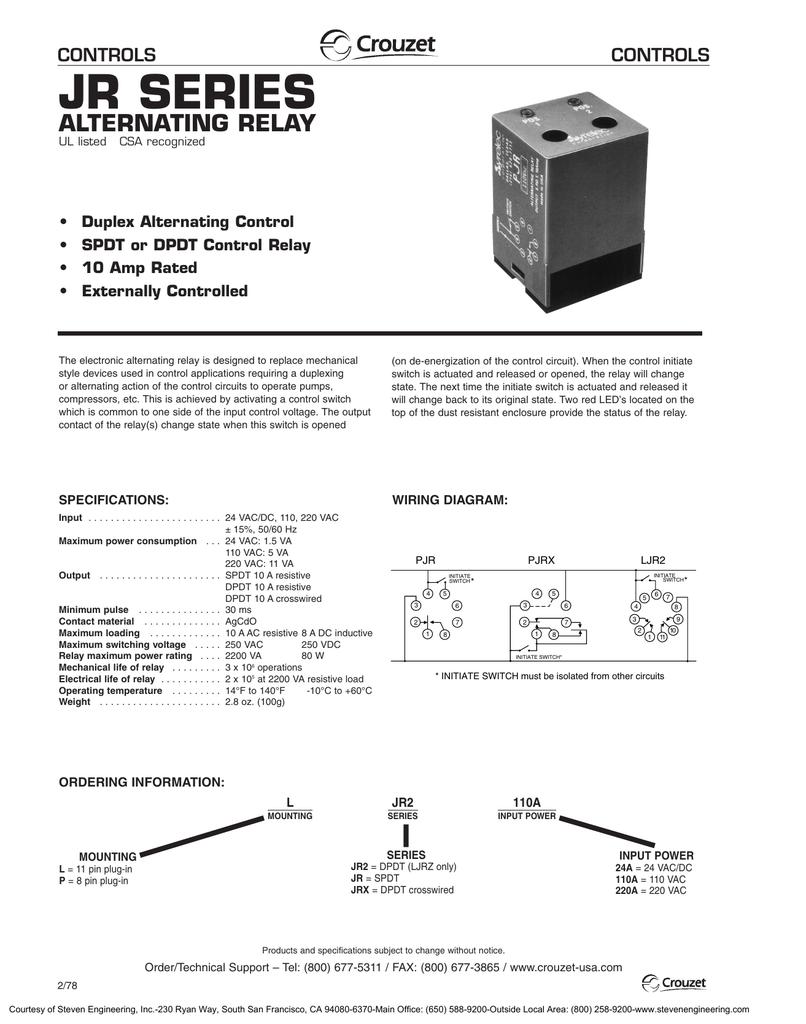 circuit diagram alternating relay switch alternating relay jr manualzz  alternating relay jr manualzz