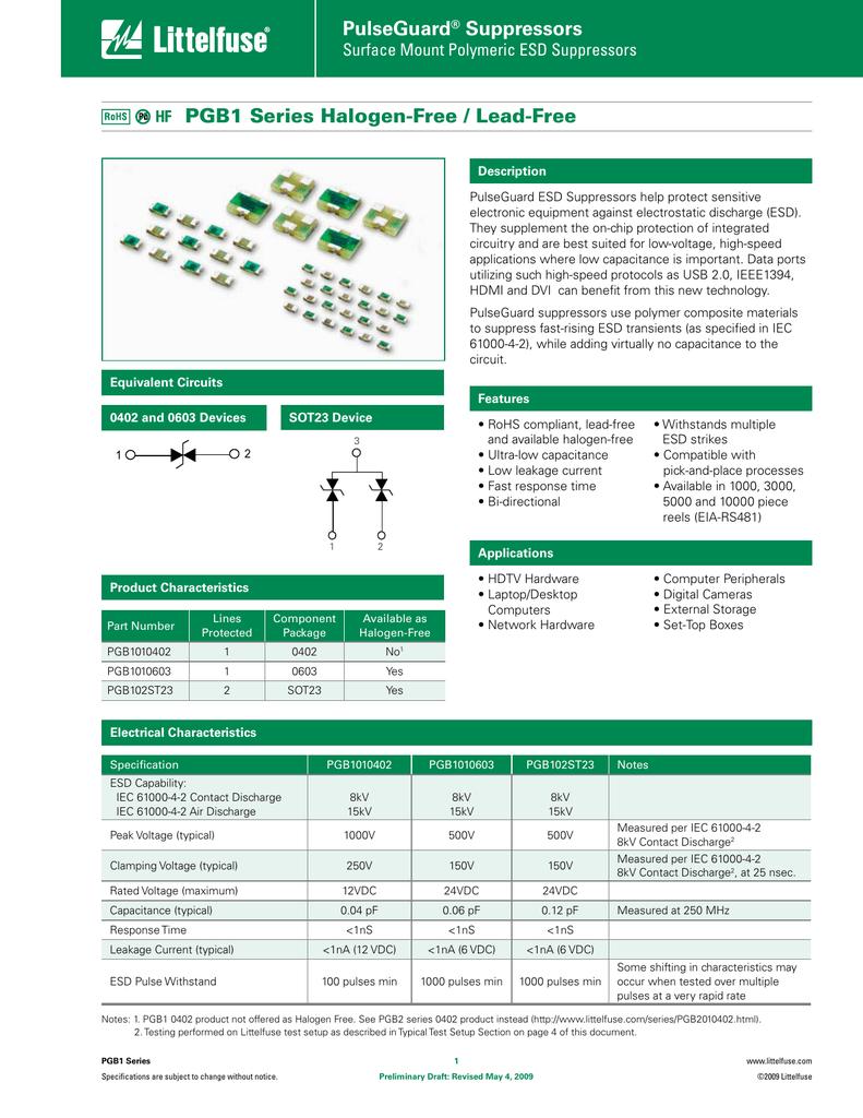 100 pieces ESD Suppressors Chip Guard 0603 12 Volt