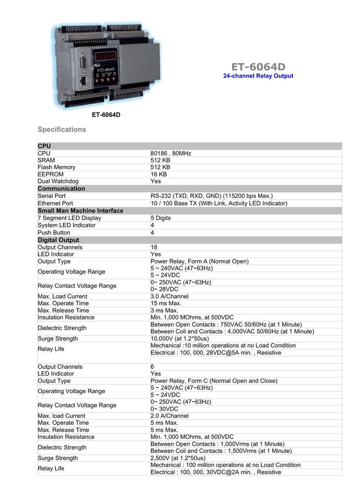 ET-6064D spec eng | manualzz com