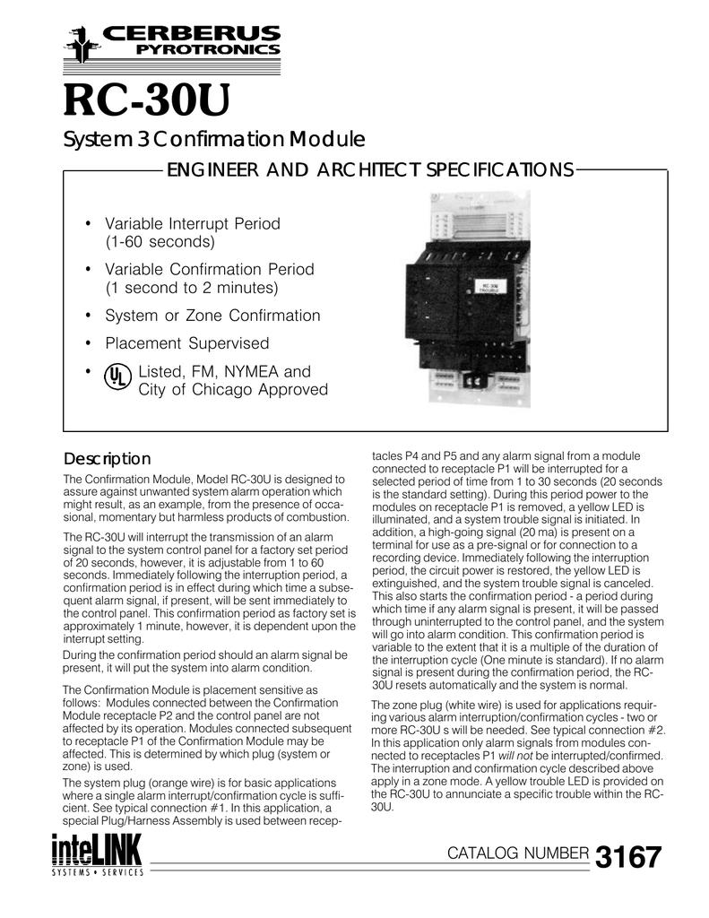 Details about  /Cerberus TL-30U Pyrotronic Time Limit Universal Alarm Control Module 58012172114