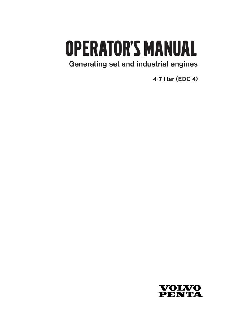 tad722ge operators manual manualzz com rh manualzz com Volvo Penta Engine Diagram Volvo Penta Wiring Harness