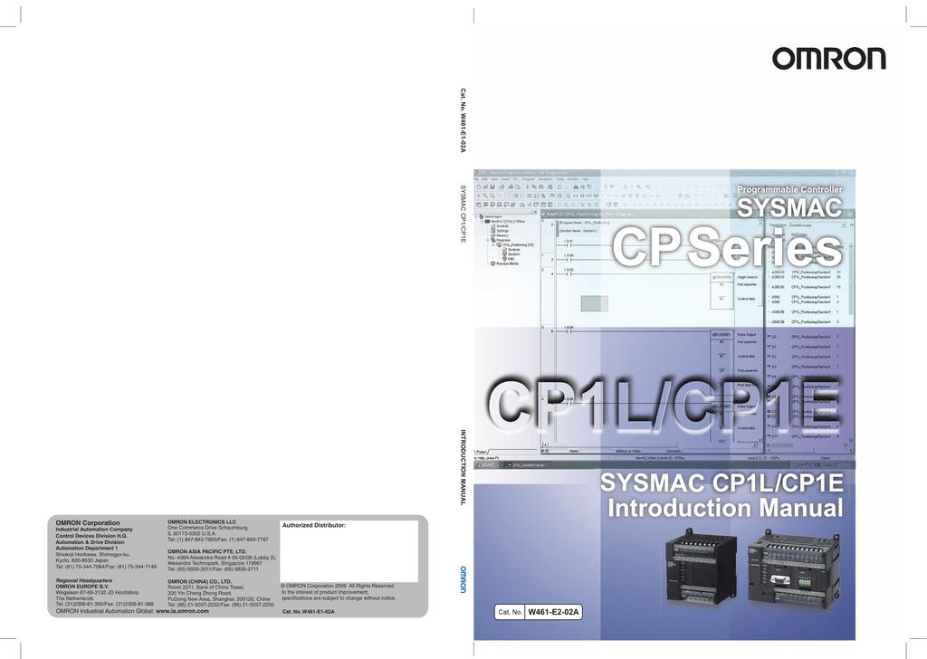 CP1E/CP1L Getting Started Guide | manualzz com