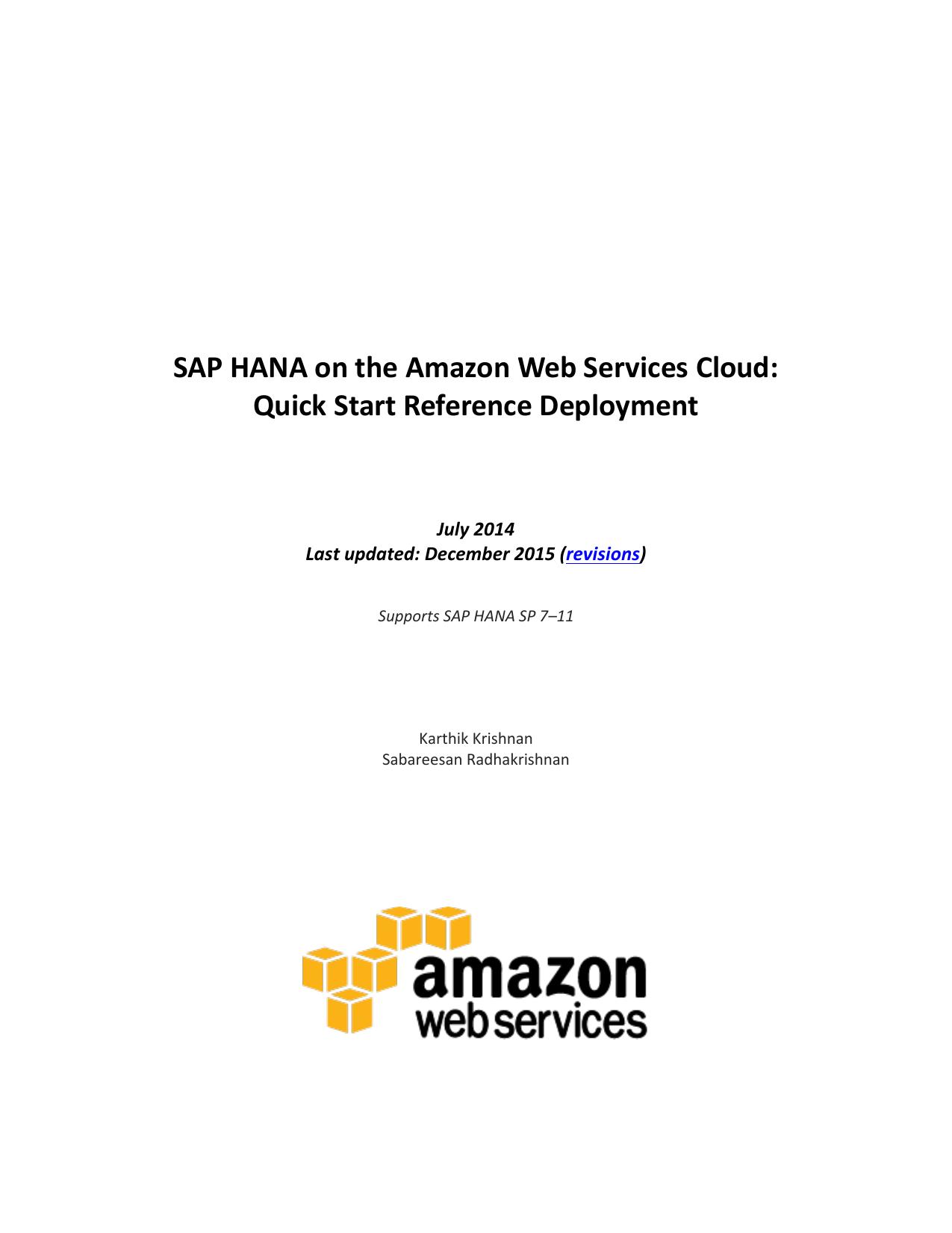 AWS SAP HANA Reference Deployment Guide   manualzz com