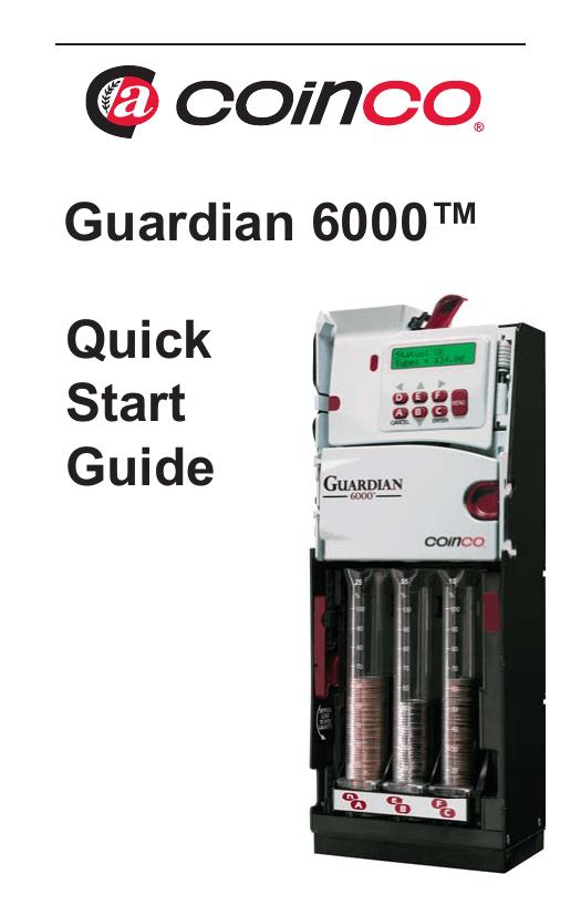 Guardian 6000 xl manual