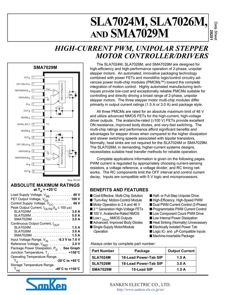HIGH-CURRENT PWM, UNIPOLAR STEPPER MOTOR CONTROLLER/DRIVERS