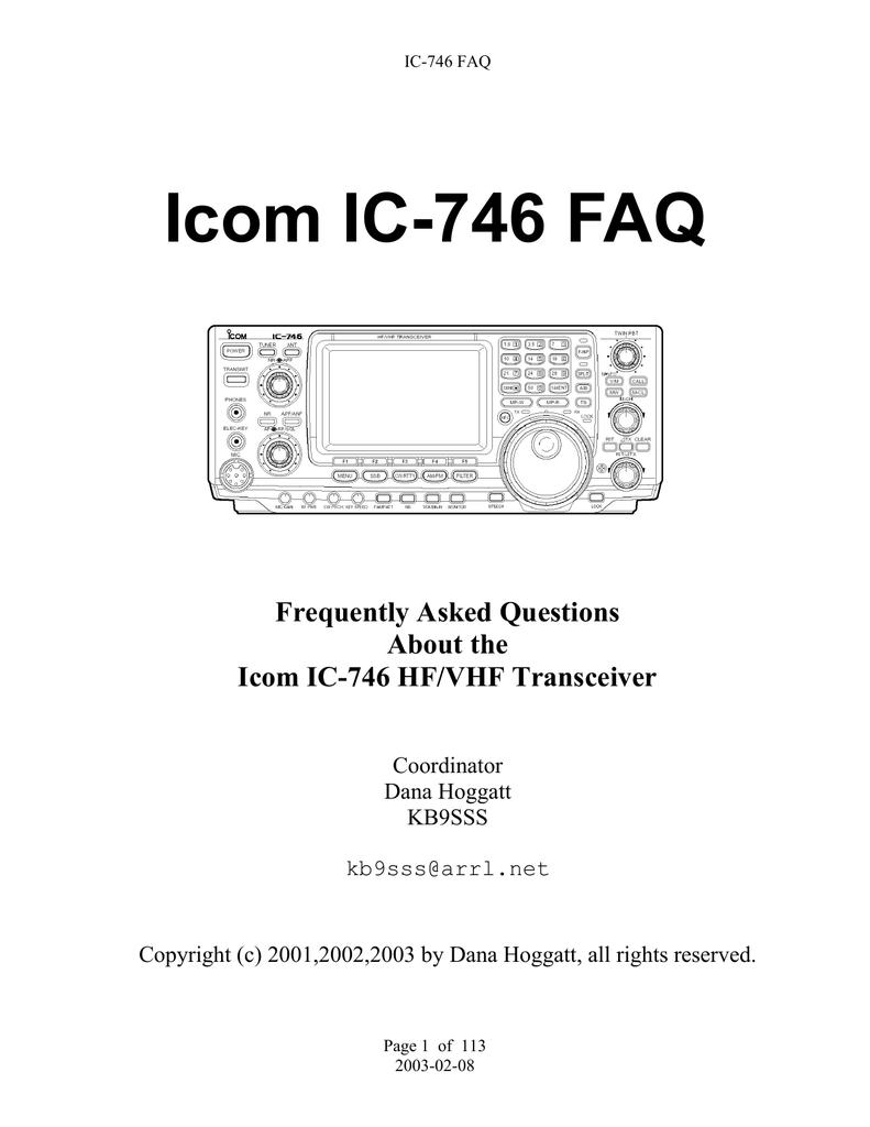 IC746-faq   manualzz com