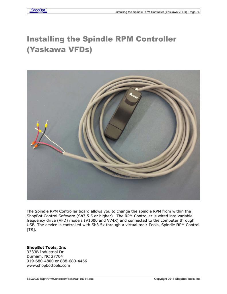 Installing An Rpm Controller On A Yaskawa Vfd Wiring Diagrams