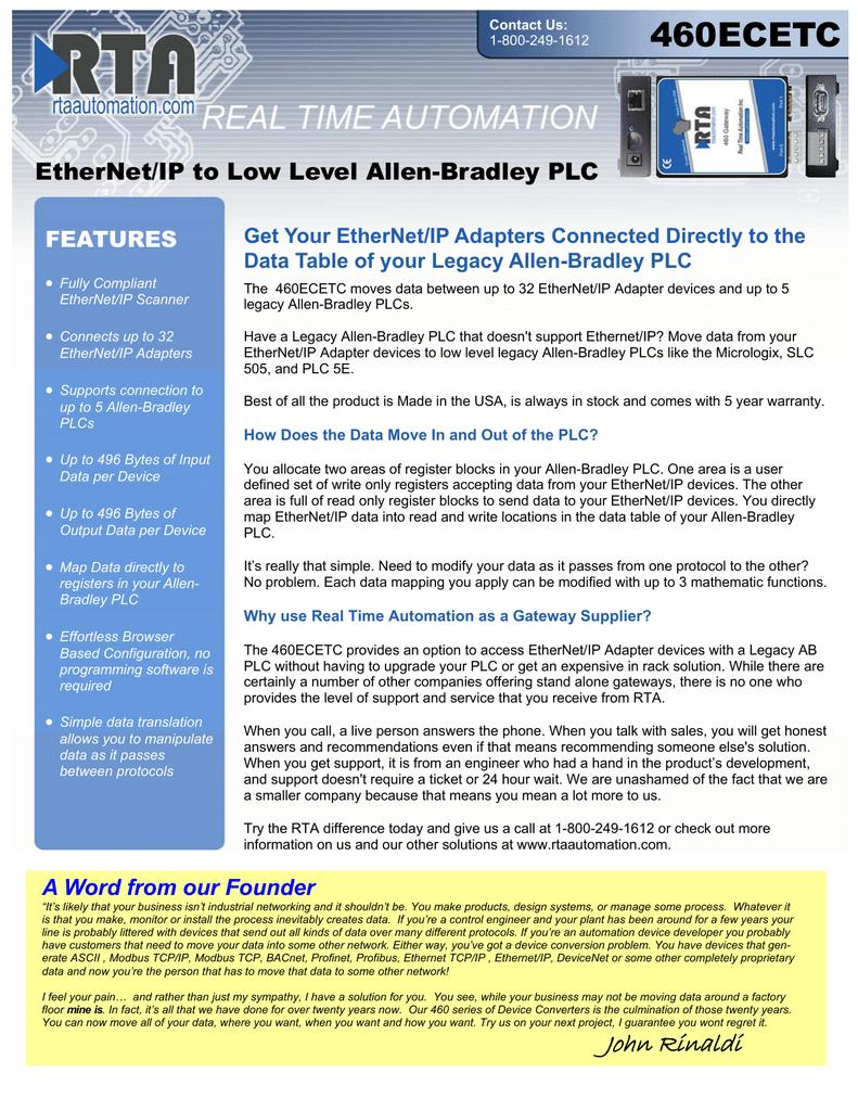 Ethernet Ip Plc