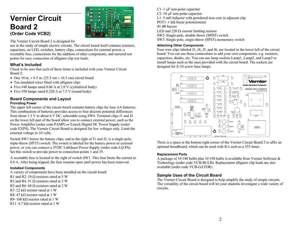 Vernier Circuit Simple Parts