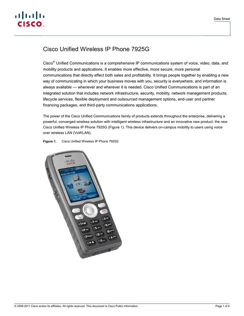Cisco Unified Wireless IP Phone 7925G | manualzz com