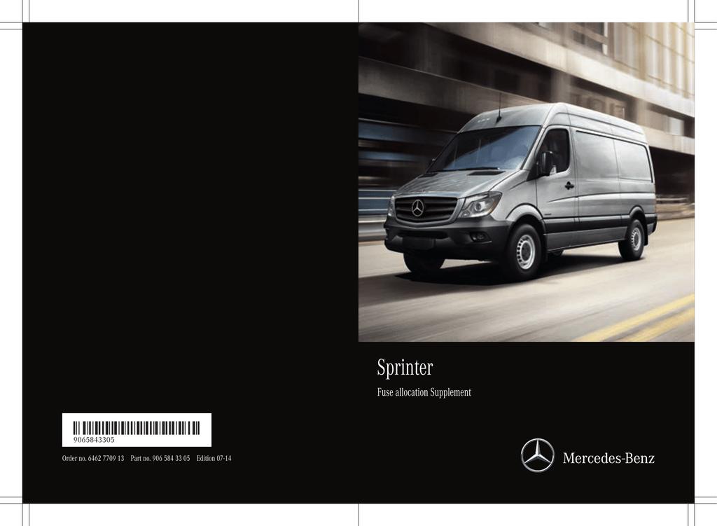[ZTBE_9966]  Sprinter Fuse Allocation Chart | Manualzz | 2013 Mercedes Sprinter Fuse Box |  | manualzz