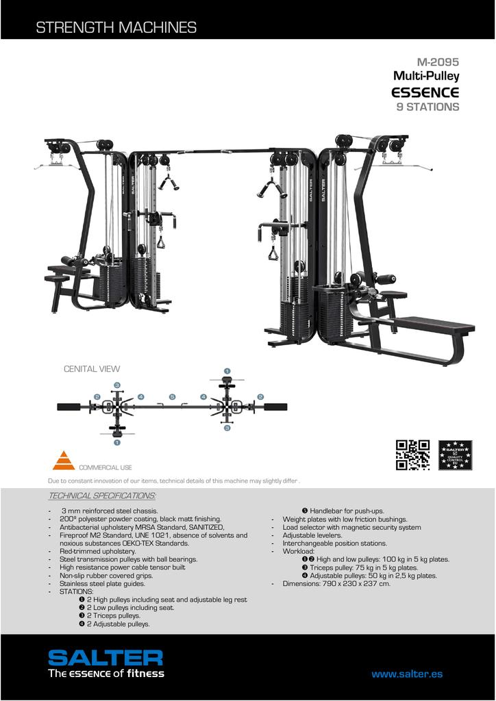 STRENGTH MACHINES ESSENCE Multi-Pulley | manualzz com