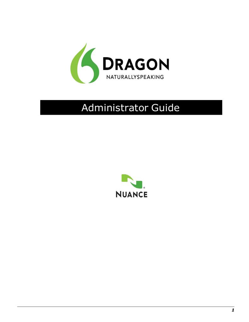 Dragon naturallyspeaking 12 administrator guide nuance.