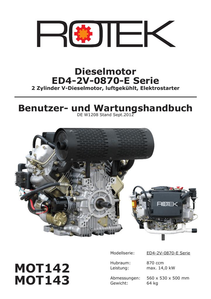 MOT142 MOT143 Dieselmotor ED4-2V-0870-E Serie | manualzz.com