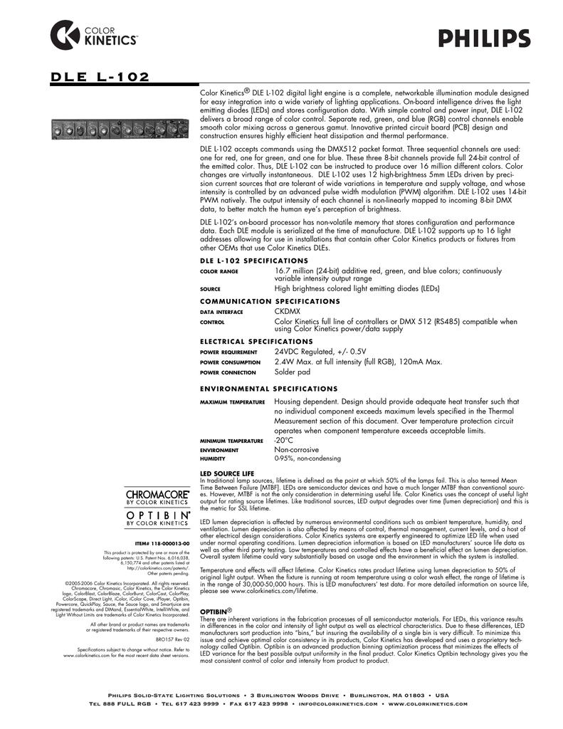Dle L 102 Data Sheet Manualzz