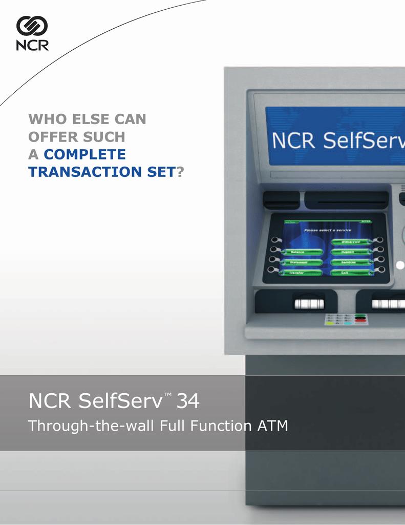 NCR SelfServ 34 | manualzz com