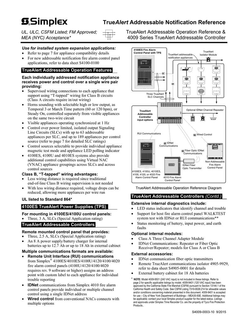 Simplex 4100 Wiring Diagrams | Wiring Diagram
