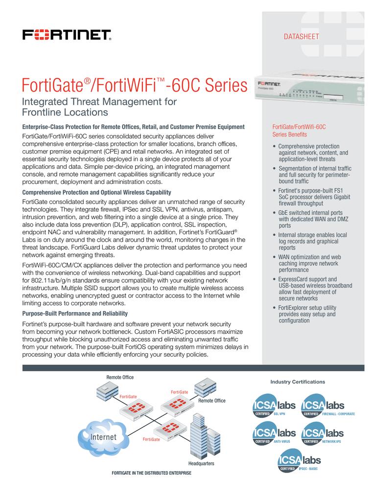 FortiWiFi 60C Datasheet | manualzz com